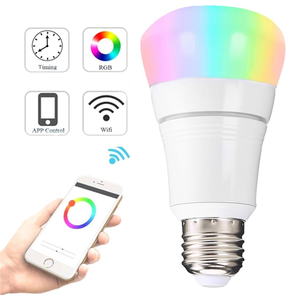 Interlink Smart LED Light Bulb WiFi Dimmable No Hub Required Cellphone Control Multicolor Compatible with Amazon Alexa Google Assistant Daylight Night Light Home Lighting (E27)