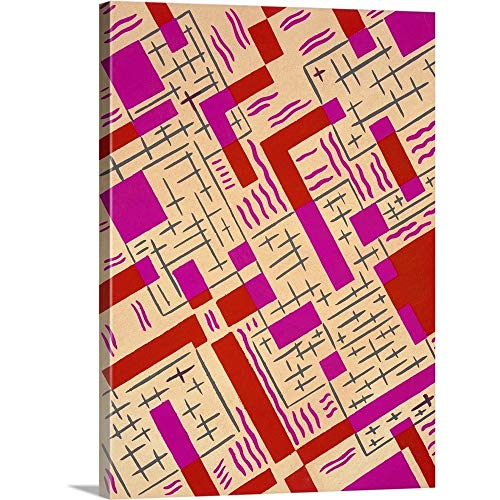 GREATBIGCANVAS Gallery-Wrapped Canvas Entitled Design from 'Nouvelles Compositions Decoratives', Late 1920s by Serge Gladky 12