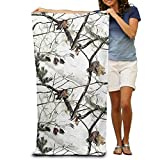 Shower Curtain pillow Bath Towel White Realtree Camo Patterned Soft Beach Towel 31''x 51'' Towel With Unique Design