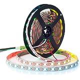 BTF-LIGHTING WS2812B 5M 60 LEDs/Pixels/m 300LEDs RGB adressierbare Streifen mit 5050 SMD LEDs NichtWasserdicht IP30