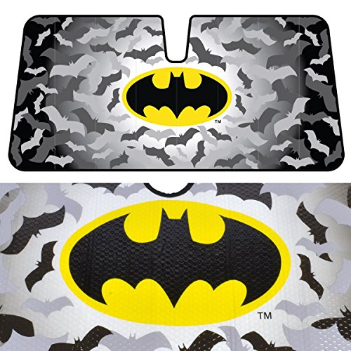 BDK Batman Sunshade for Car - Original Batman Design by Warner Brothers (Batman Car Shade compare prices)