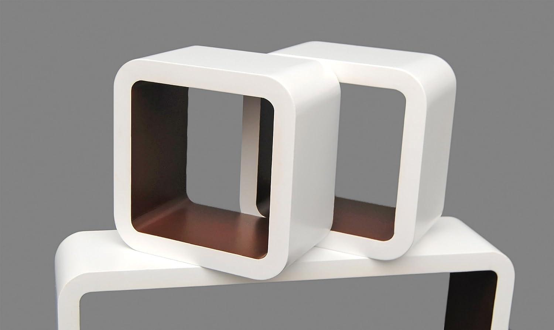 Wandregal design weiß  3er Set Lounge Regal Cube Design Bücherregal Retro CD DVD ...