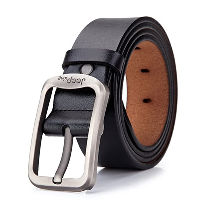 "171af44c2 Tekon New Business Men Split Leather Belt 1.5"" Cowhide Vintage Classic  Jean Pin Buckle Belts"
