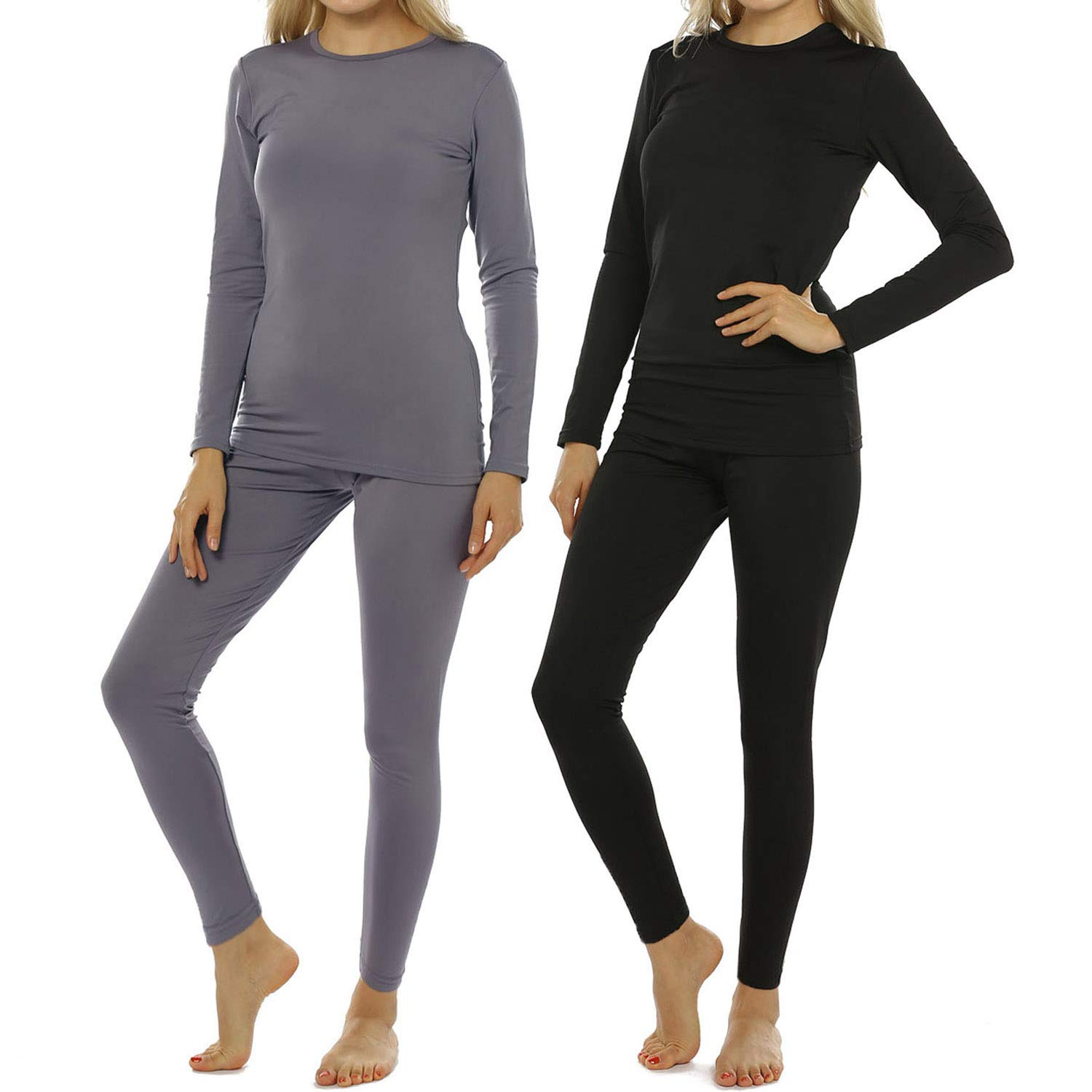 Womens Thermal Underwear Set Long Johns with Fleece Lined Ultra Soft Top & Bottom Base Layer for Women by ViCherub