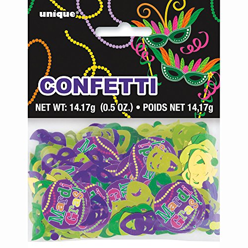 Foil Mardi Gras Party Confetti
