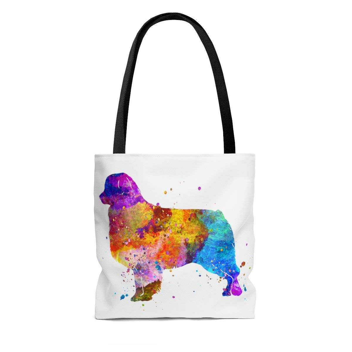 Amazon.com: Watercolor Australian Shepherd Tote Bag, Books ...