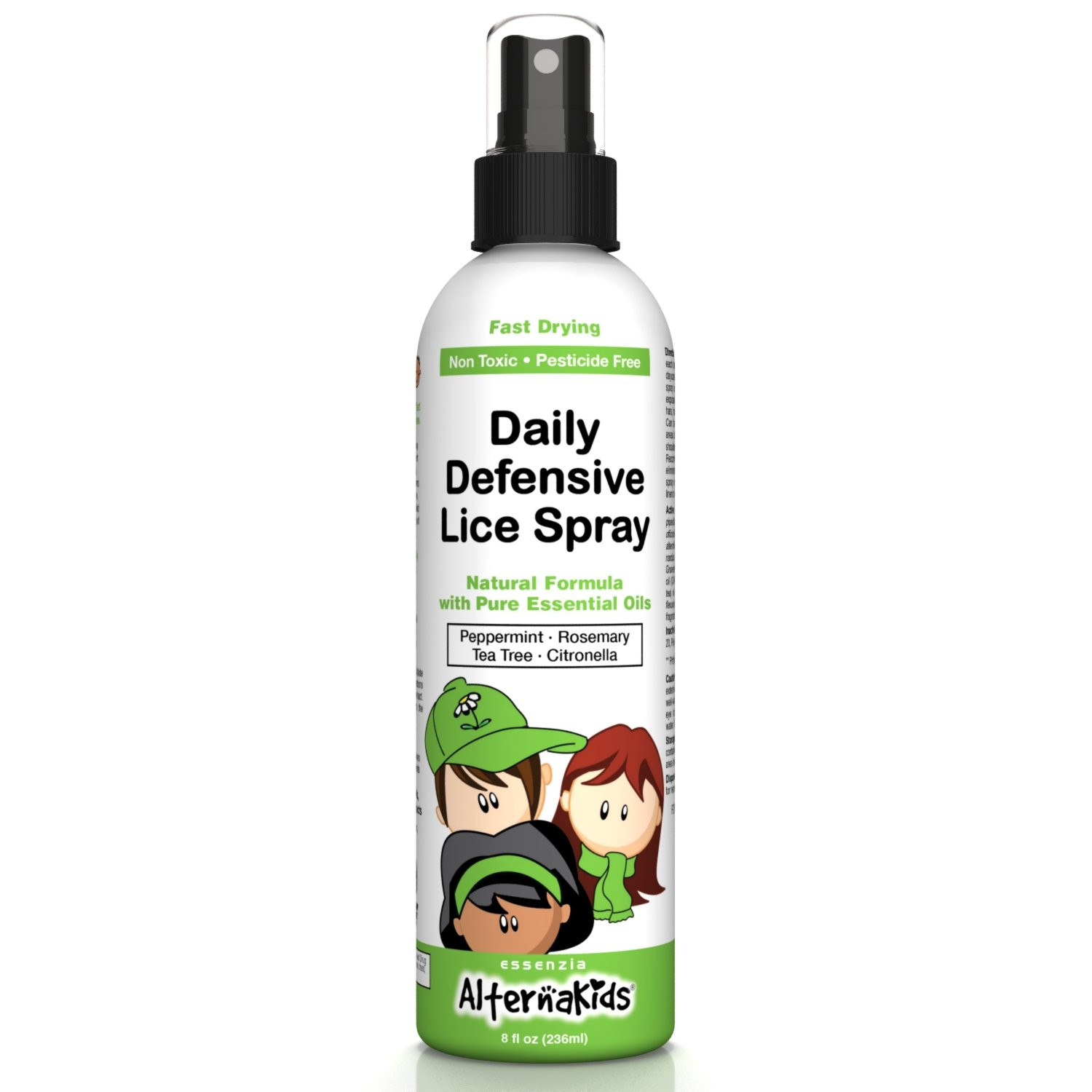 Lice Prevention Spray for Furniture and Bedding by AlternaKids – Safe, Natural, Non-Toxic | Eliminate Outbreaks at Home by Misting Hats, Backpacks, Pillows and Toys (8 oz Bottle)