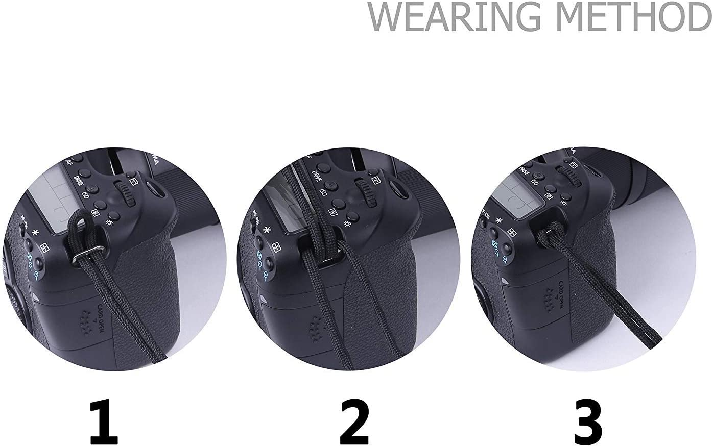 2PACK Adjustable Camera Wrist Strap//Bracelet,Vkermury Braided 550 Paracord for SLR//DSLR Digital Cameras//Binoculars//PSP//Wii and Other Electronic Devices