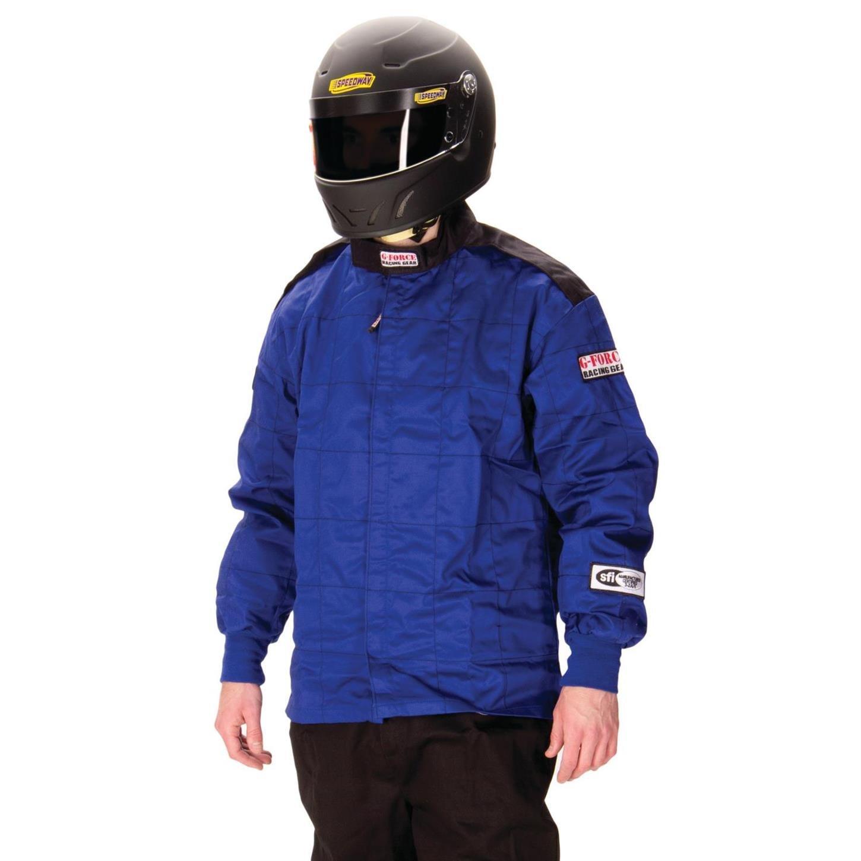 G-Force 4126XLGBU GF 125 Blue X-Large Single Layer Racing Jacket