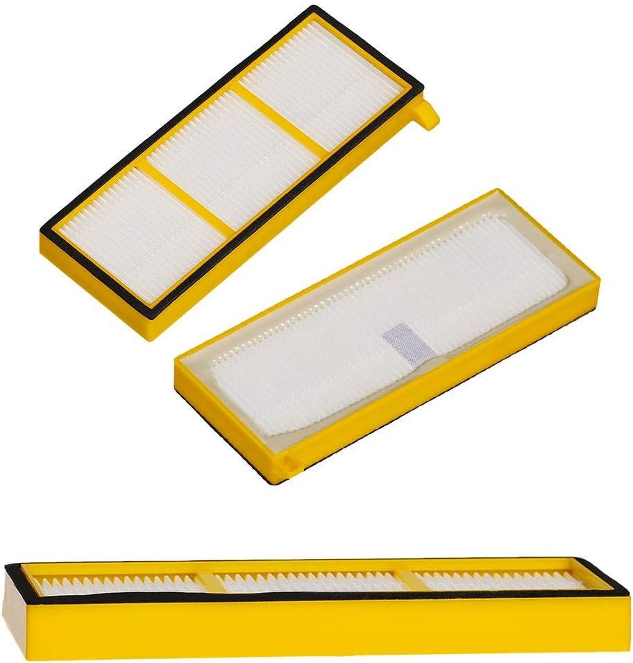 SaferCCTV Replaces RVFFK700 Pre-Motor Filter for Shark Ion Robotic RV700 RV720 RV750 RV750C Vacuum Cleaner Part 3 Filter +6 Side Brushes