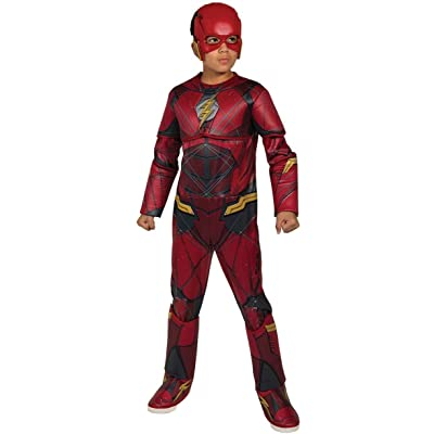 Justice League Child's Deluxe Flash Costume, Small: Toys & Games