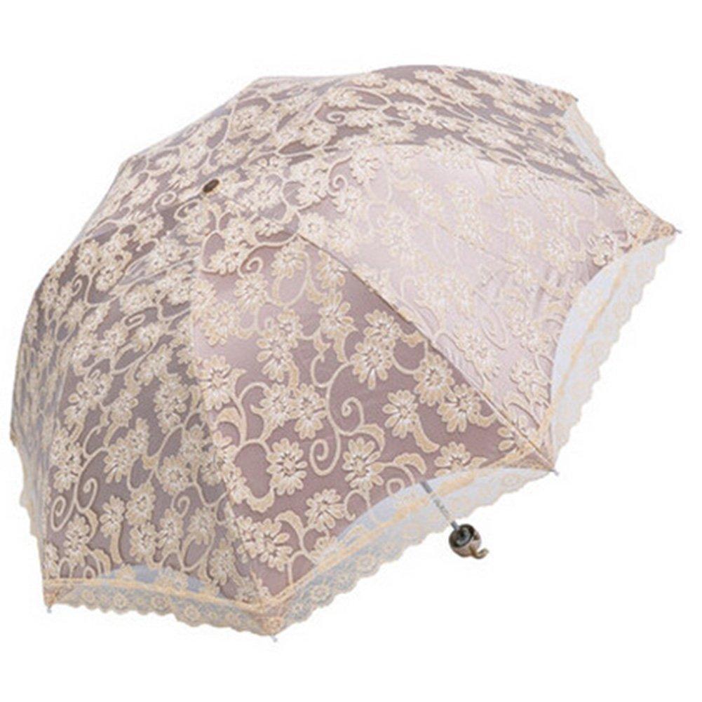 niceEshop(TM) Paraguas Parasol Plegable de Sol Protección UV (Albaricoque): Amazon.es: Hogar