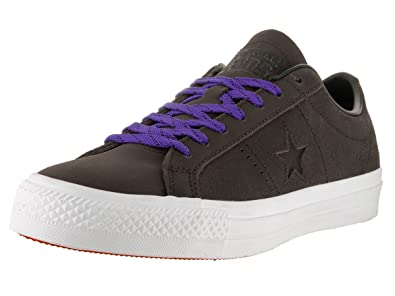 b6d8307b6216 Converse Unisex One Star Pro Leather Ox Hot Cocoa Black White Skate Shoe 7.5