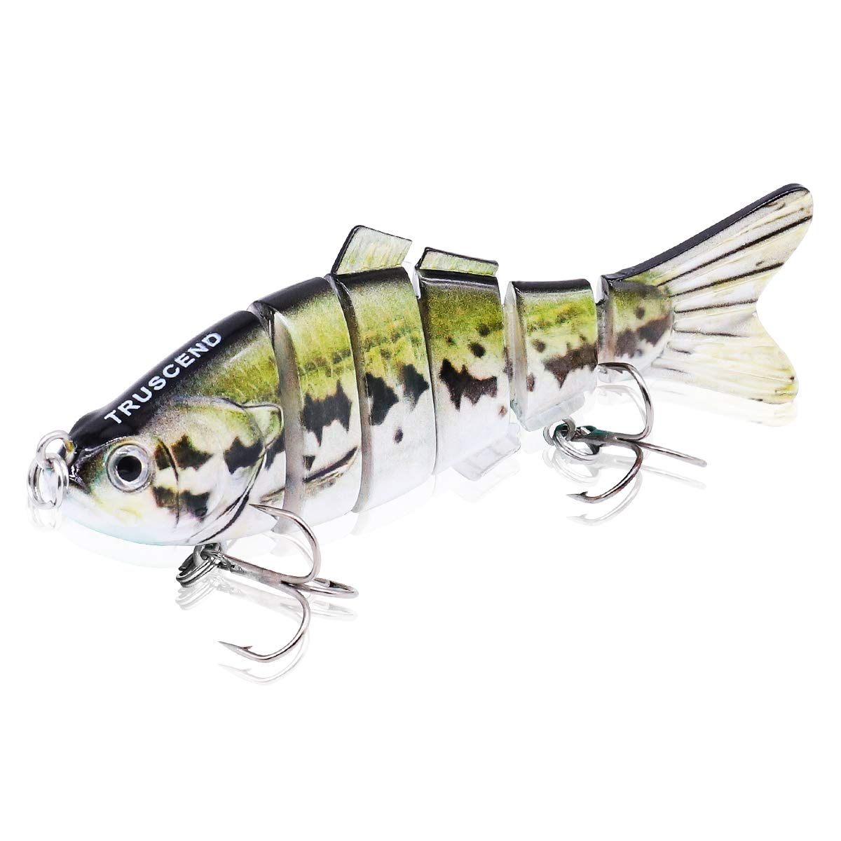 TRUSCEND Swimbaits Glide Baits for Bass Fishing Lures Crankbait Jointed Trout Swimbait with Mustad Hooks (S-4)