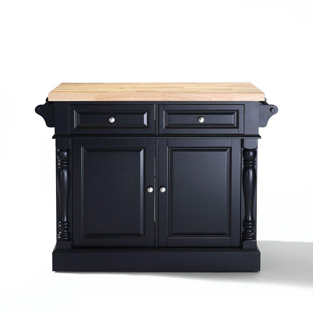 amazon com crosley furniture kitchen island with butcher block