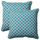 outdoor throw pillow blue - Pillow Perfect Indoor/Outdoor Hockley Corded Throw Pillow, 18.5-Inch, Teal, Set of 2