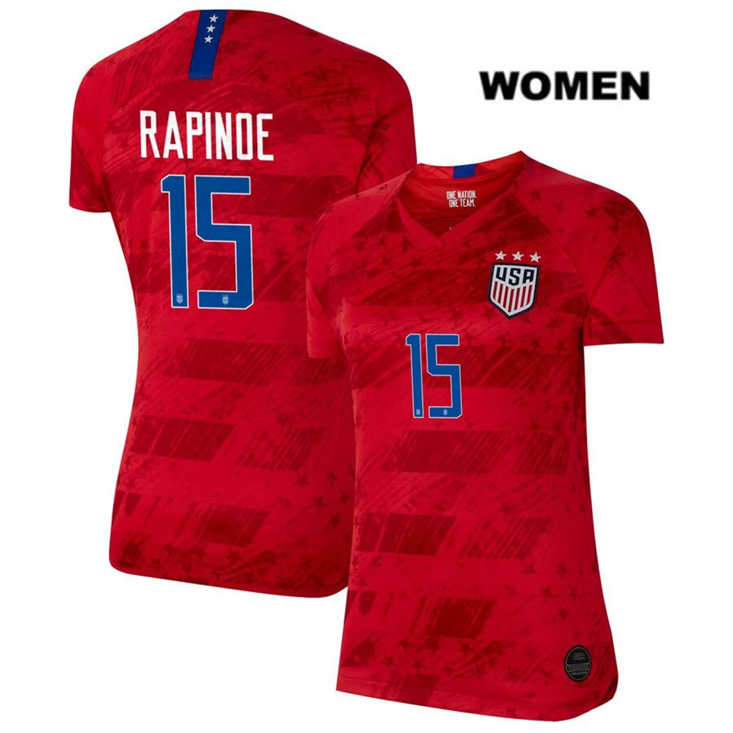 online store dd940 7bd55 ZZXYSY Megan Rapinoe #15 2019 Women's World Cup USWNT Women's Away Soccer  Jersey/Short Colour Red