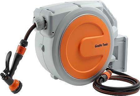 Schlauchtrommel 20m Automatischer Schlauchaufroller 180° Schwenkbar Wandschlauch
