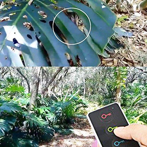 hot sale 2017 Esky® Localisateur d'objets (clés, portefeuilles,animaux..) avec LED Porte Clés Siffleur Key Finder Anti-perte--1 emetteur + 4 récepteurs