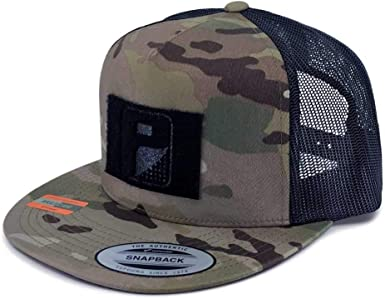 Flat Bill Trucker Hat Baseball Cap Multicam Multicam