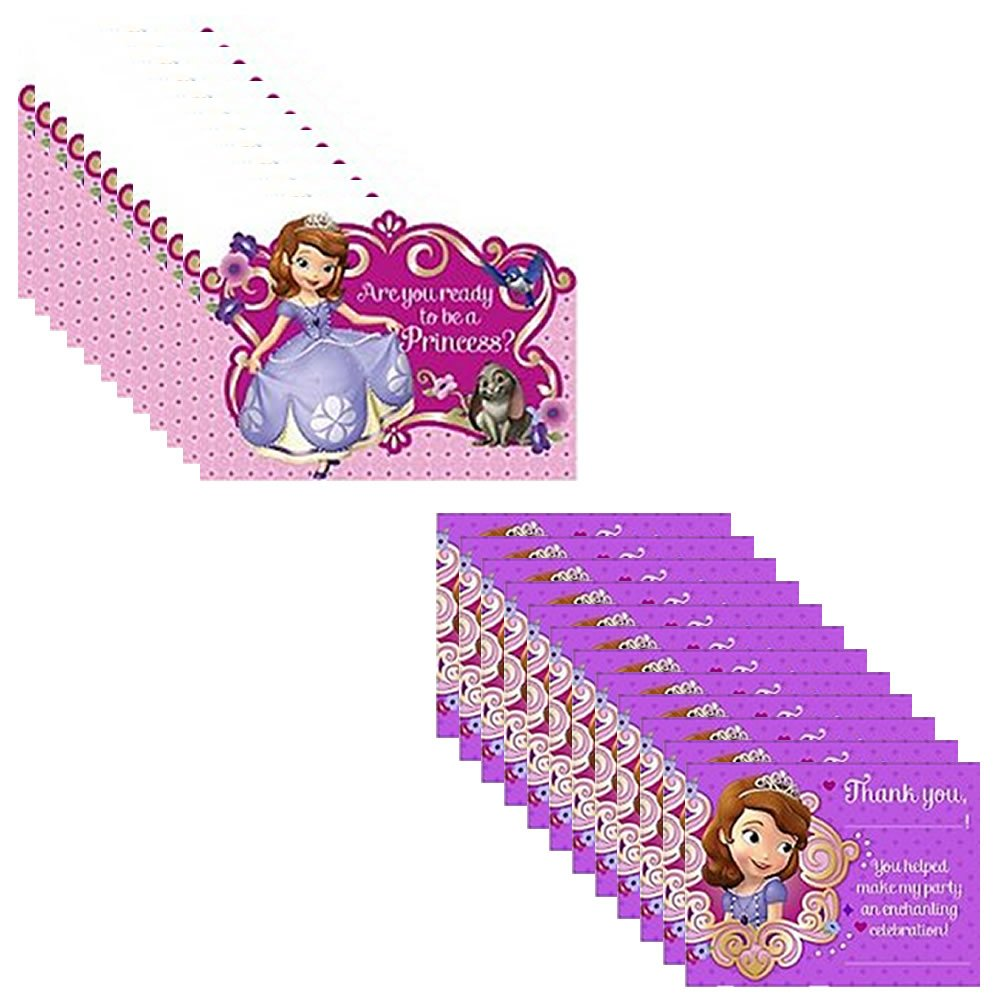 Amazon.com: Disney Junior Sofia the First Party Invitations Pack ...