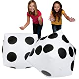 Inflatable Huge Dices Playing Black with White Dots 2 Pieces