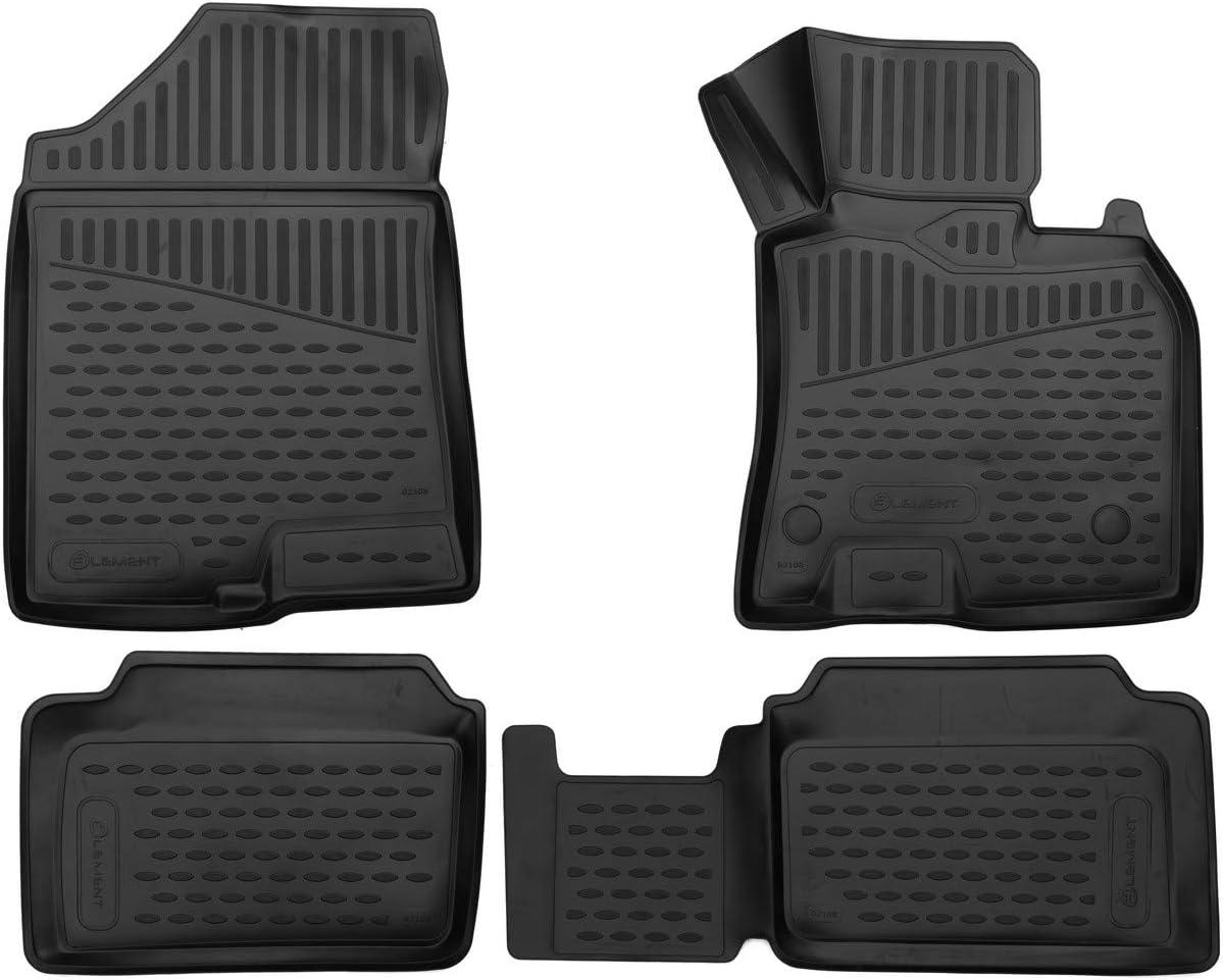 Black 2017 Element EXP.ELEMENT3D02108210k Tailored Custom Fit 3D Rubber Floor Mats for Hyundai i30 hb