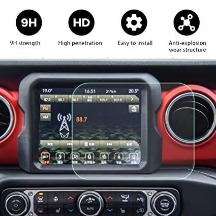2018 Jeep Wrangler JL 8 4 inch Center Navigation Touch Screen  Protector,Dodge HD Clear Tempered Glass Car in-Dash Screen Protective for  Wrangler JL