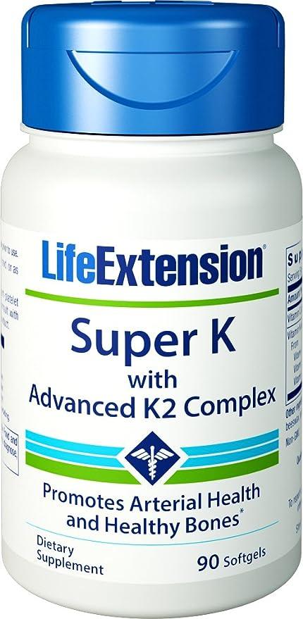 Life Extension Super K con avanzada K2 Complex 90 Cápsulas blandas ...