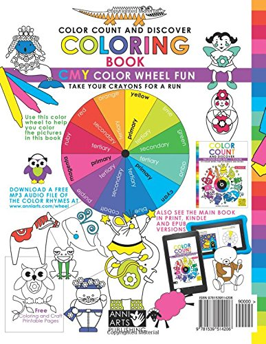 Color Count And Discover Coloring Book CMY Wheel Fun Anneke Lipsanen 9781539514206 Amazon Books