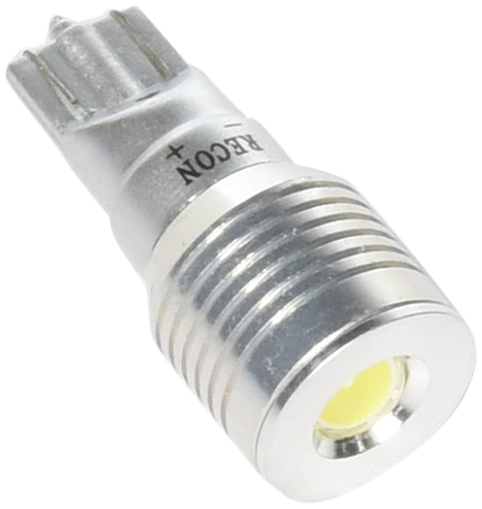 Recon 264225WH Auto Interior Replacement 921 T-15 1 Power Magnified Led On Each Bulb Bullet-Style Ultra High