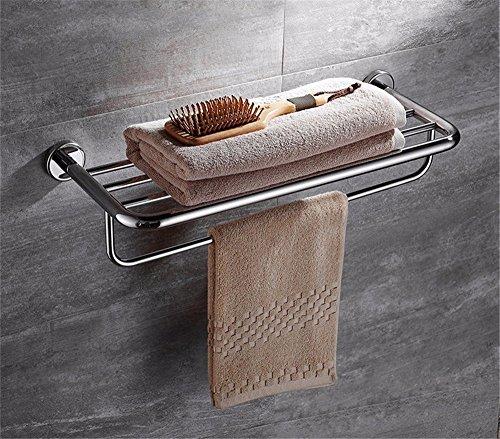 HOMEE Bathroom Towel Rack Bathroom Stainless Steel Shelving Hotel Hardware Pendants,60cm by HOMEE