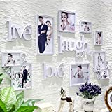 LQQGXL European style frame clip creative composition decorative photo wall living room wall hangings bedroom combination photo wall Photo frame ( Color : White )