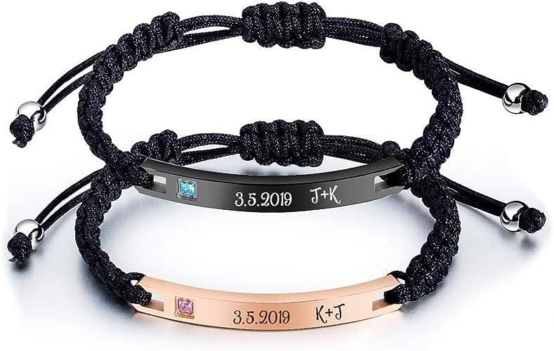 Long Distance Relationship Bracelets Personalized Bracelets for Couples Couple Coordinates Bracelets Promise Bracelets for Couples