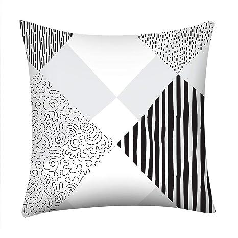 VJGOAL Moda Casual en Blanco y Negro Patrones geométricos de ...