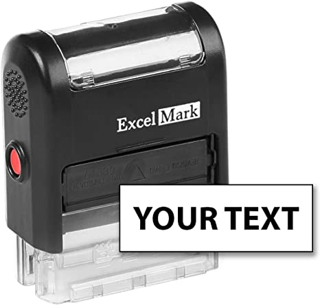 Excelmark Custom Self Inking Rubber Stamp Home Or Office A1539 1 Line With Bold Font