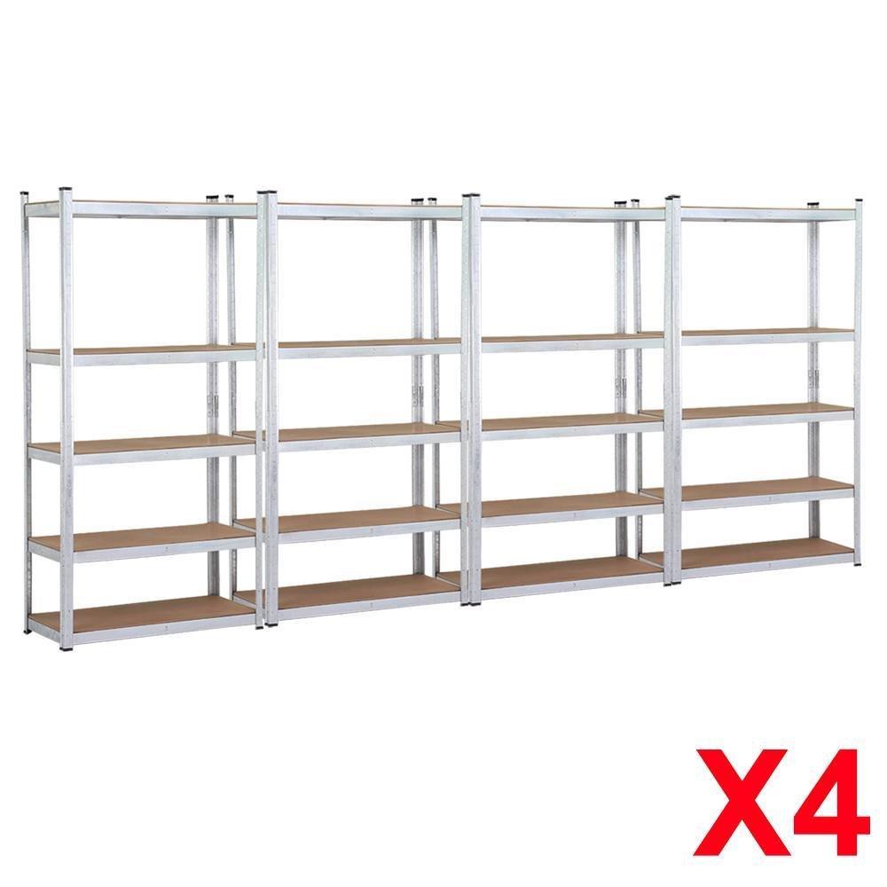 Topeakmart 5 Tier Storage Rack Heavy Duty Shelf Steel Shelving Units,71''Height,1929 lb Capacity per Bay (4 Bay Garage Shelves)