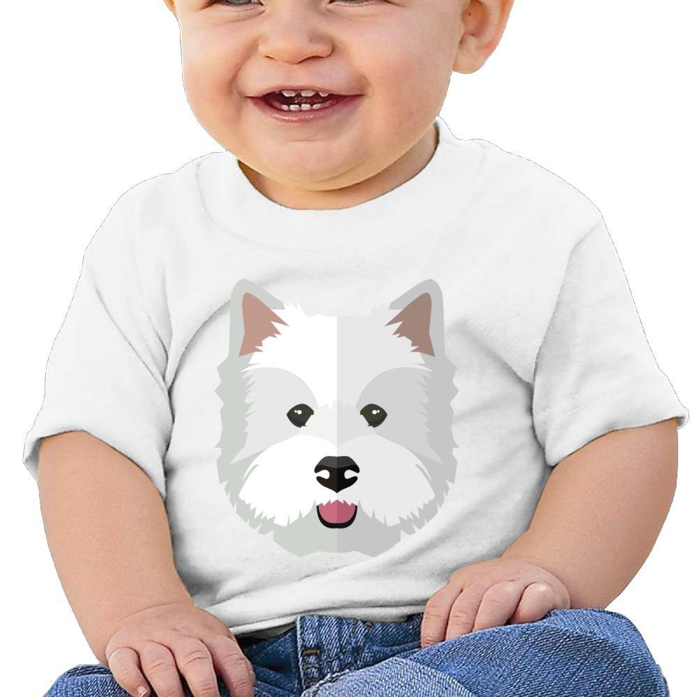 Arsmt Baby Boys Toddler//Infant Birthday Gift White Cute Pupy Dog Head Shirts