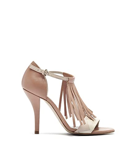Poi Lei Ria - Damen Schuhe/Fransen-Sandalette - High-Heel mit Stiletto-Absatz Schwarz
