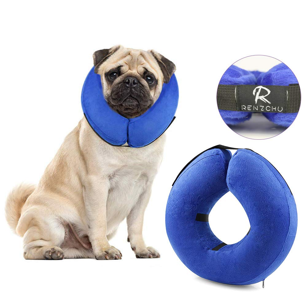 Dog Cone Collar Soft - Protective Inflatable Cone Collar for Dogs and Cats, Soft Pet Recovery E-Collar Cone Small Medium Large Dogs, Designed to Prevent Pets from Touching Stitches by Renzchu