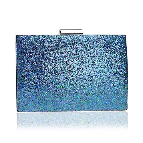 Evening Hand Bag Bag Banquet Sequin Fashion GROSSARTIG Bag Evening Ladies Blue New 4aqSWxZ