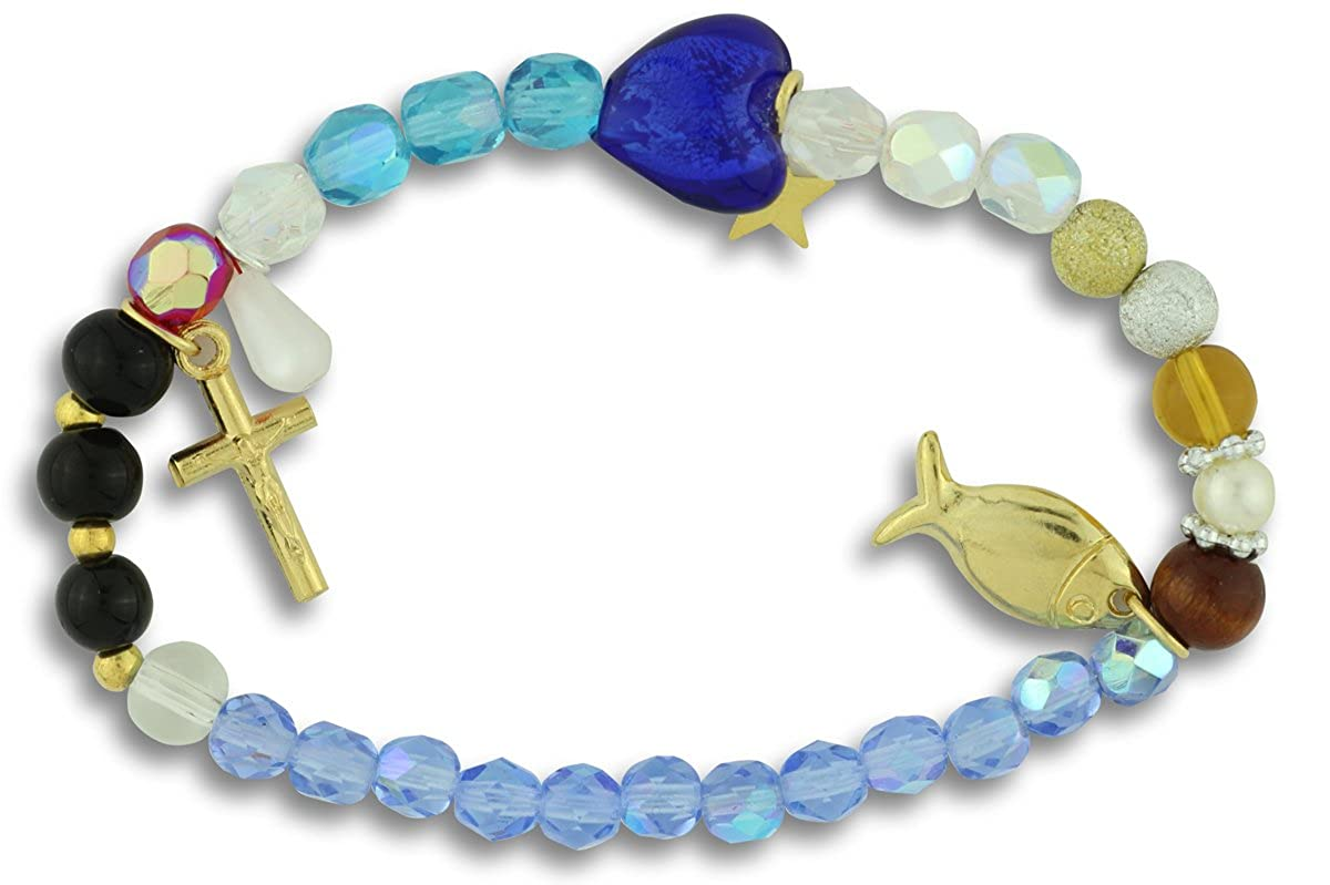 The Life of Jesus Bracelet with Beads and Charms RB1450