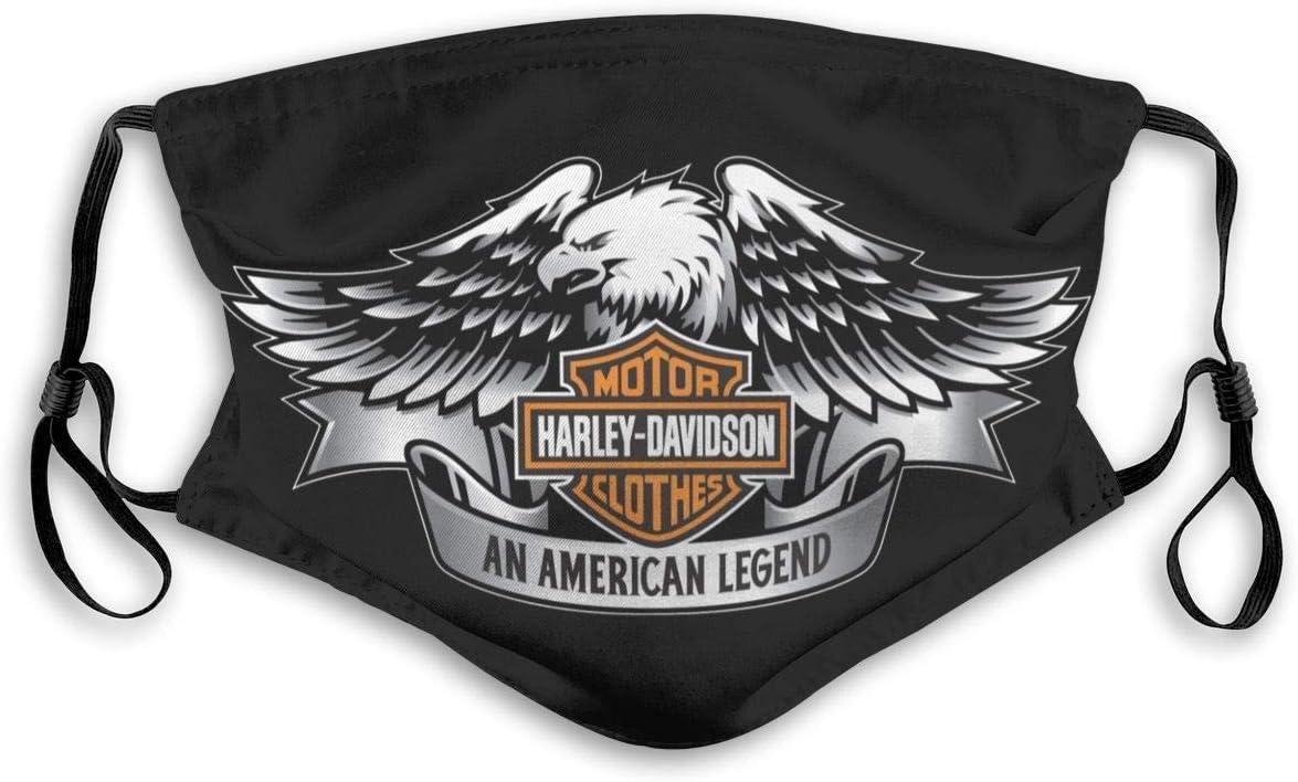 Harley Davidson Copricapo Bocca Copricapo Sciarpa riutilizzabile senza cuciture allaperto con filtro sostituibile Bandane antivento mezza faccia per uomo Donna Adolescenti