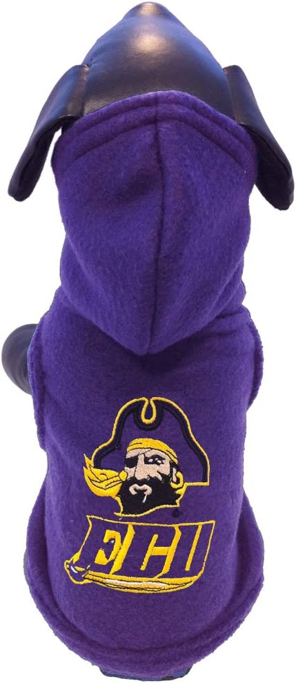 X-Large NCAA East Carolina Pirates Polar Fleece Hooded Dog Jacket