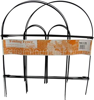 """product image for Glamos Wire Products 776777 18"""" x 10' Black Folding Wire Fence"""