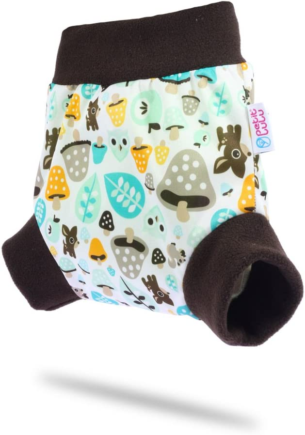 Made in Europe Petit Lulu Pull Up Cloth Nappy Cover Pull On Cloth Nappies Blooming Garden Washable Diaper Wrap Size L