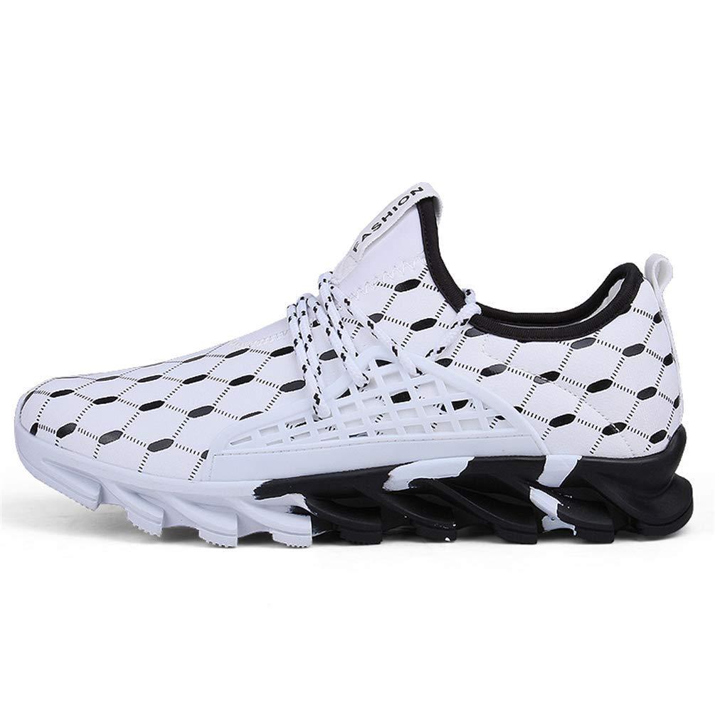 ZHRUI Klassische Mann-Turnschuh-Laufschuhe männliche Bequeme einfache gehende Schuhe (Farbe   Weiß, Größe   6.5 UK)