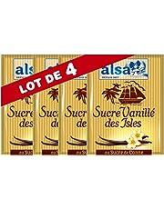 Alsa Sucre Vanillé des Isles 7 Sachets 53g (Lot de 4)
