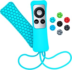 Sahiyeah Case Compatible for Apple TV Remote Case Light Weight Anti Slip Waterproof Shockproof Silicone Protective Case Cover for Apple TV 2 3 Remote Controller,Mint Green