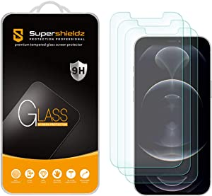 (3 Pack) Supershieldz Designed for iPhone 12 Pro Max (6.7 inch) Tempered Glass Screen Protector, Anti Scratch, Bubble Free